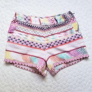 Francesca's Quinn boho shorts high rise tribal S
